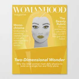 Womanhood Magazine Canvas Print