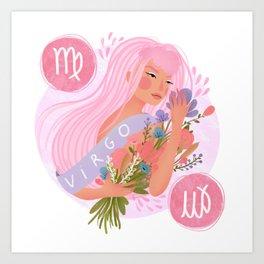 Virgo Zodiac Illustration Art Print