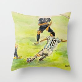 Lionel Messi_ Argentine professional footballer Throw Pillow