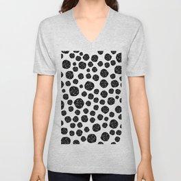 Abstract pattern 4 - Dalmatian - Black Dots Unisex V-Neck