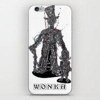 willy wonka iPhone & iPod Skins featuring WOnkA by Nicholas Price