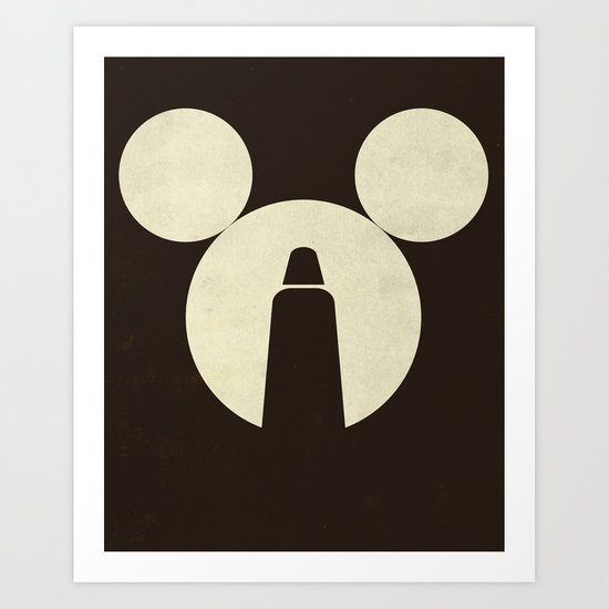 The Dark Side of the Mouse Art Print