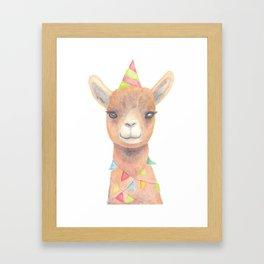 Birthday Llama Framed Art Print