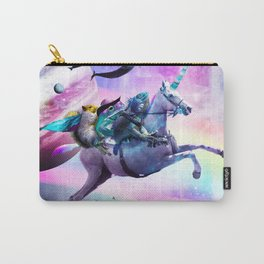 Bearded Dragon Frog Squirrel On Rainbow Unicorn Carry-All Pouch
