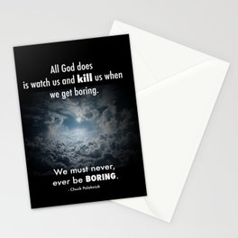 Never be Boring Stationery Cards