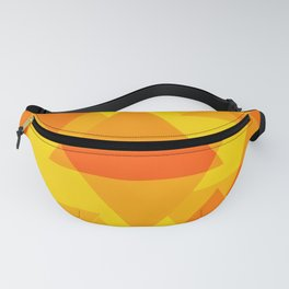 Bright yellow and orange large triangles in the intersection and overlay. Fanny Pack