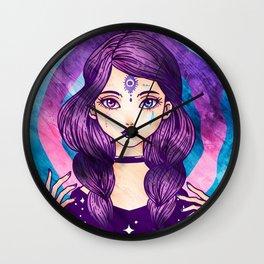 Purple Goth Witch Wall Clock
