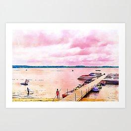 Summer At the Lake Art Art Print