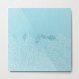 LEAVES ENSEMBLE BLUE Metal Print