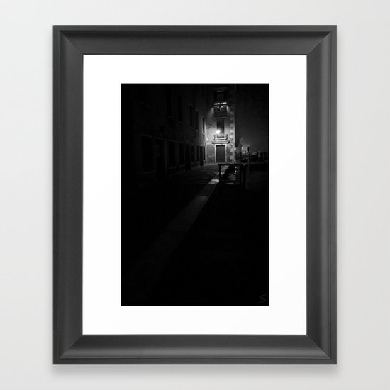 Venice by night Framed Art Print