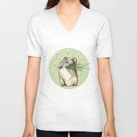 hamster V-neck T-shirts featuring Hamster Love by Nasuta