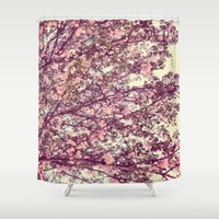 sofa Shower Curtains featuring floral sofa by vibeyantlers