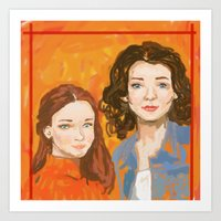 gilmore girls Art Prints featuring Oh, To Be A Gilmore  by Sarah Mary Street