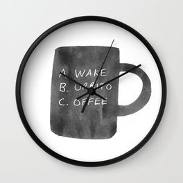 Morning Breakfast Coffee Mug Wall Clock