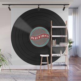 Retro Vinyl Record Wall Mural