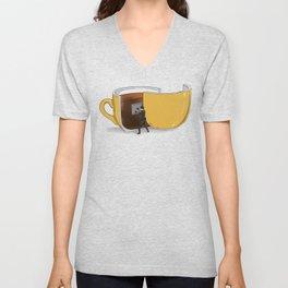 Coffee Confidential Unisex V-Neck