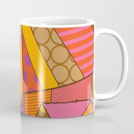 Graphic Leaf Patchwork (Fall Bold Colors) Coffee Mug