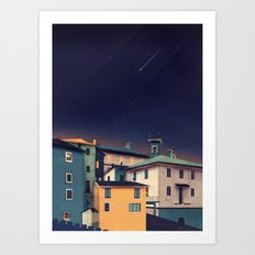 Castles at Night Art Print