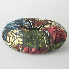 "Edward Burne-Jones ""Stained glass collection"" Floor Pillow"