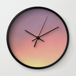 cloudless sunset Wall Clock