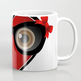 A red heart with black spectacles Coffee Mug