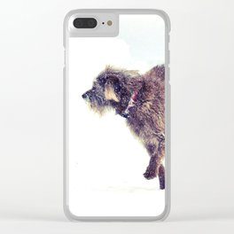 Snowy Puppy Clear iPhone Case