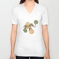 polka V-neck T-shirts featuring Elephant Polka by Paula Belle Flores