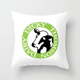 Dicky Thomson Dairy- Letterkenny Throw Pillow