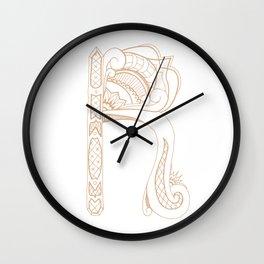 Fancy R Wall Clock