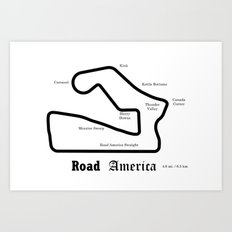 RennSport Shrine Series: Road America edition Art Print