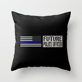 Police: Future Police Officer Throw Pillow