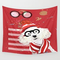 waldo Wall Tapestries featuring Wheres Waldo by grapeloverarts