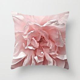 Pink Blush Rose Throw Pillow