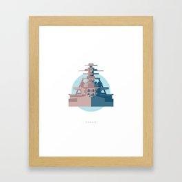 Battleship Bismark Framed Art Print