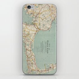 Vintage Map of Cape Cod (1917) iPhone Skin