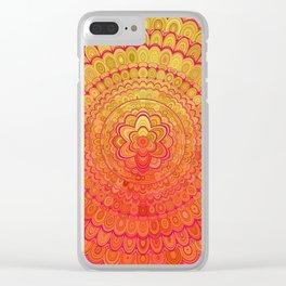 Aztec Flower Mandala Clear iPhone Case