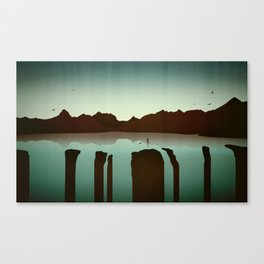 Chasing Boats Canvas Print