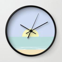 Pastel sea sunset Wall Clock