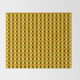 Retro Yellow Squares Throw Blanket