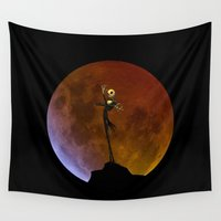 jack skellington Wall Tapestries featuring NIGHTMARE JACK SKELLINGTON by alexa