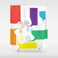 facebook Shower Curtains featuring Facebook by Scott Aichner