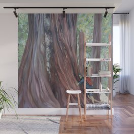 Tree Whisperer and His Dog Wall Mural