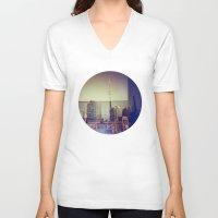 toronto V-neck T-shirts featuring Toronto by Jordan Osbourne