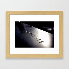 Flight 175 Framed Art Print