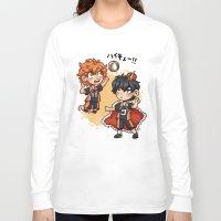 haikyuu Long Sleeve T-shirts featuring haikyuu!!  by Minty Art