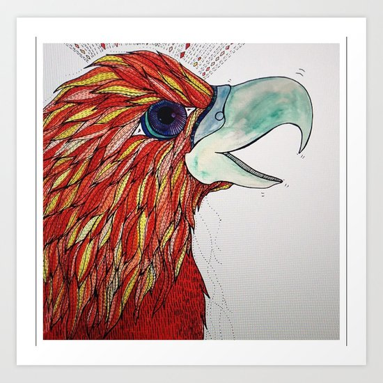 Lucky Bird Art Print