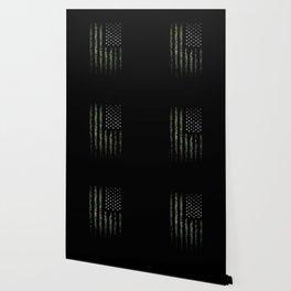 Khaki american flag Wallpaper
