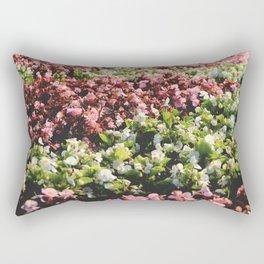 Central park flowers flowerbed surface Rectangular Pillow