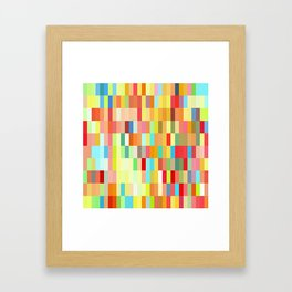 colorful rectangle grid Framed Art Print