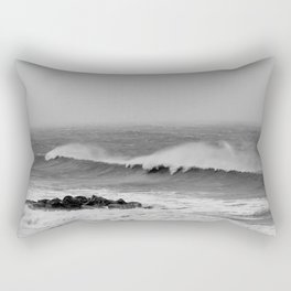 Storm over the sea coast. Rectangular Pillow